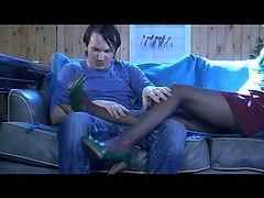 Laura&Rolf naughty nylon feet movie