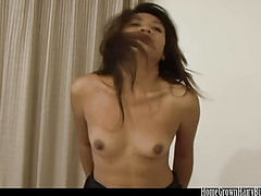 Nuch Spreads Her Hairy Pussy To Take Mr Happy's Cock