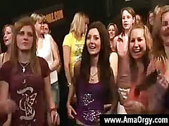 Party girls strip down and bend over to get a nice hard fuck
