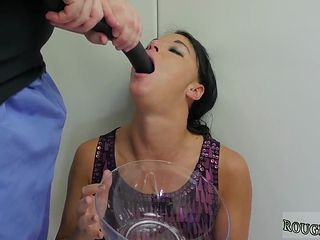 Extreme Gagging Action With A Brunette That Loves Face Fucking