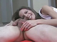 Fucker gets crazy orgasm when he feels girl`s fingers in his stinky hairy asshole