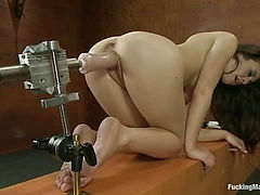 Hot, Sassy, French Girl Machine stretched Until She can Fist Her Ass