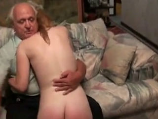 Naughty Blond Teen Spanked By Old Man