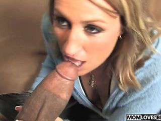 Joey Lynn takes a BBC in front of her son
