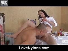 Veronica&Nicholas raunchy nylon action