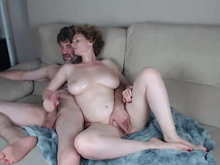 Redhead pale skin milf with big natural boobs fucked on cam