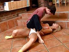 Horny Sabrina gets a monster cock