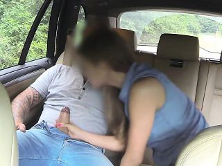 Pretty amateur passenger boned by the driver in the cab