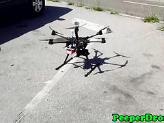 Voyeur uses a drone