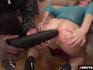 This 2 sluts receive a solid correction by 2 big black cocks