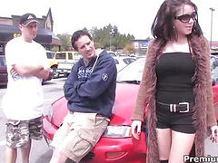 Young canadian hooker in 3some