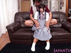 Squirting Japanese schoolgirl loves toys