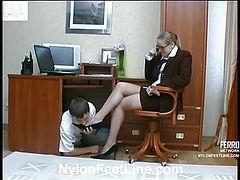 Susanna&Walt nylon footsex video