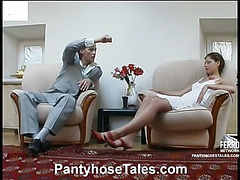 Sophia&Mike pantyhose sex video