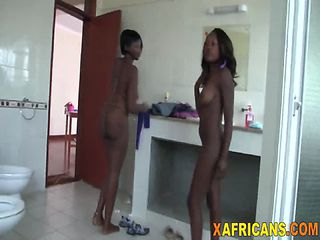 Two African Chicks Get Filled By White Schlong