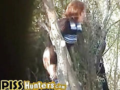Pissing among trees