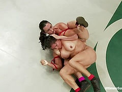 Tits vs. Legs; Round 3 of July's Epic Tag Team Match!