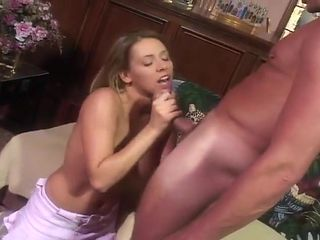 Sexy Young Blonde Gives A Blow Job