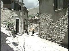 Black and white sex in Italian movie