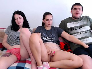 Huge tit threesome squirting
